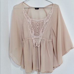 Rue 21 Short Flare Sleeves Blouse